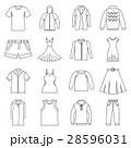 Different clothes icons set, outline style 28596031