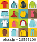 Different clothes icons set, flat style 28596100