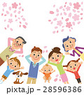 桜 桜吹雪 お花見のイラスト 28596386