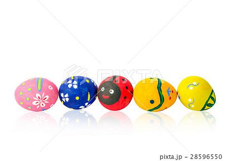easter eggs isolated on white background.の写真素材 [28596550] - PIXTA
