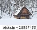 白川郷 合掌造り 冬の写真 28597455