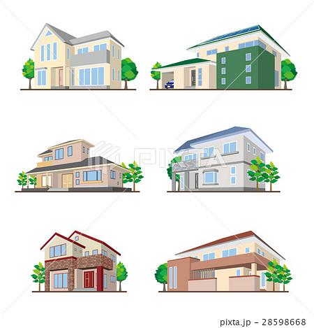 家のイラスト 立体図形のイラスト素材 28598668 Pixta