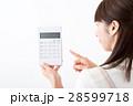 若い女性、計算機、主婦 28599718