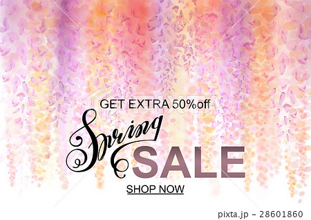 Advertisement about the spring sale on defocused 28601860