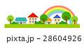 虹 風景 家のイラスト 28604926