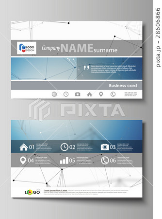 business card templates easy editable layoutのイラスト素材