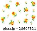 小花柄 バラ 水彩のイラスト 28607321
