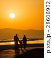 海岸 夕日 海の写真 28608962