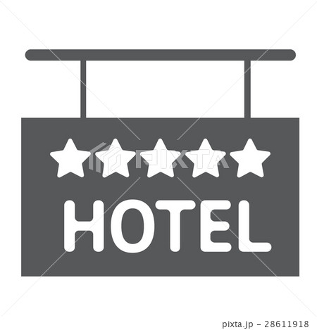 Hotel icon solid 5 star sign silhouetteのイラスト素材 [28611918] - PIXTA