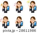スマートフォン 表情 仕草のイラスト 28611986
