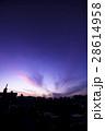 夕焼け空(内陸部 街並みのシルエット) 28614958