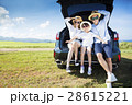 family enjoying road trip and summer vacation 28615221