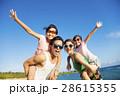 Happy Family Having Fun at the Beach 28615355