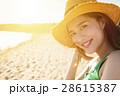 ビーチ 浜辺 女の写真 28615387
