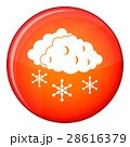 Clouds and snow icon, flat style 28616379