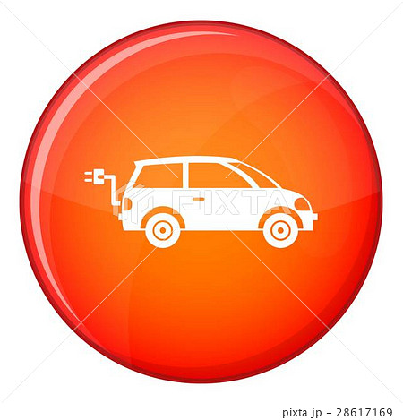 Electric car icon, flat style 28617169