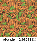 Vintage Pumpkin Seamless Pattern 28625388