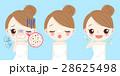 吹き出物 女性 幸せのイラスト 28625498