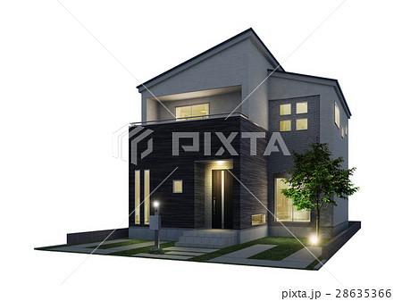 戸建住宅 夜景 28635366