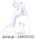 女子 授業 高校生のイラスト 28635532