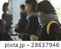 試験会場 受験票を確認する学生 28637946