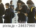 試験会場 受験票を確認する学生 28637960