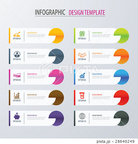 modern tab index infographic options templateのイラスト素材
