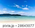 八重山諸島 小浜島 砂浜の写真 28643077