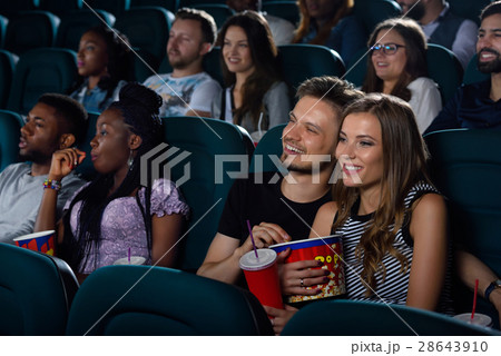 Lovely couple at the movie theatre  28643910