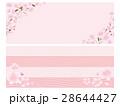 桜 バナー ベクターのイラスト 28644427