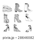 High-heeled shoes for woman. Fashion footwear 28646082