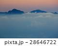 雲 夜明け 甲斐駒ヶ岳の写真 28646722