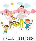 バーベキュー 春 桜のイラスト 28649894