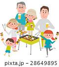バーベキューを楽しむ家族 28649895