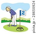 グランド・ゴルフするおばあさん 28650924