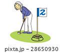 グランド・ゴルフするおばあさん 28650930