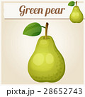 Green pear. Cartoon vector icon 28652743
