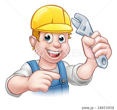 Handyman Mechanic or Plumber with Spanner 28653958