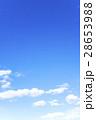 青空 空 雲 冬の空 背景 背景素材 2月 コピースペース 28653988