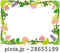 草花のフレーム/長方形 28655199