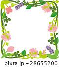草花のフレーム/正方形 28655200