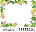 草花のコーナー飾り 28655201