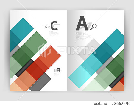 Squares and rectangles a4 brochure templateのイラスト素材 [28662290] - PIXTA