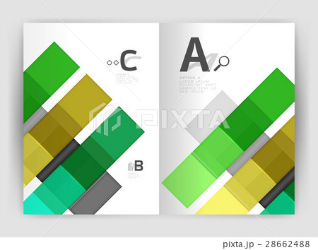 Squares and rectangles a4 brochure templateのイラスト素材 [28662488] - PIXTA