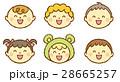 赤ちゃん 顔 笑顔のイラスト 28665257