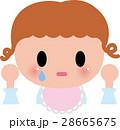 あかちゃん ベビー 泣くのイラスト 28665675