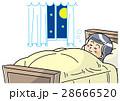 人物 女性 寝るのイラスト 28666520