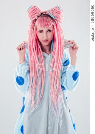 Girl in pajamasの写真素材 [28669660] - PIXTA