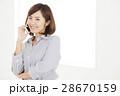 笑顔 オフィスカジュアル 若い女性の写真 28670159