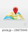 地図 カーソル pinのイラスト 28673040